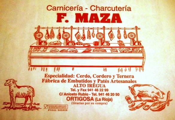 Ricos embutidos y carnes rojas en la carniceria Maza de Ortigosa de Cameros