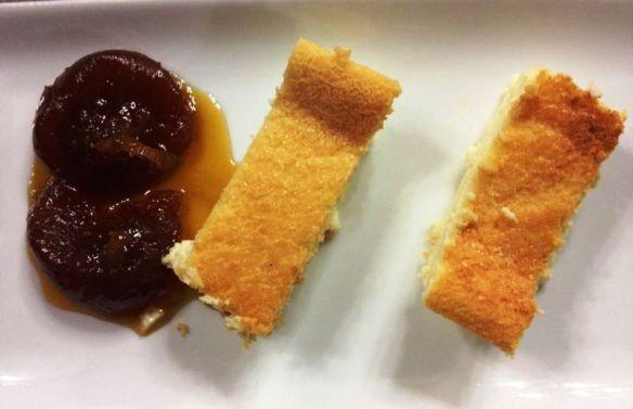 Maravillosa la tarta de queso de Los Cucharones, en La Rioja