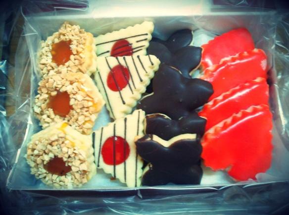 Caja de pastas de la panaderia de Margarita, en Arcicóllar (Toledo)