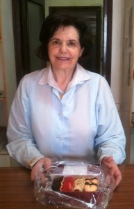 Margarita, con sus maravillosas pastas, en su panadería de Arcicollar (Toledo)