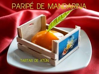 Paripé de mandarina, del restaurante Gaspar de Zahara