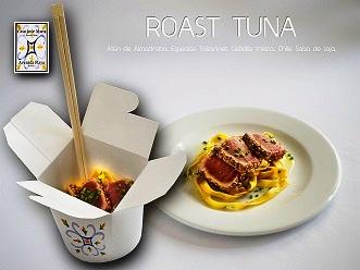 Roast Tuna, la imaginativa tapa oriental de Casa José María, en zahara