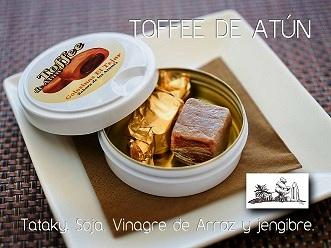 Toffee de atun, del restaurante El Tejar de Zahara