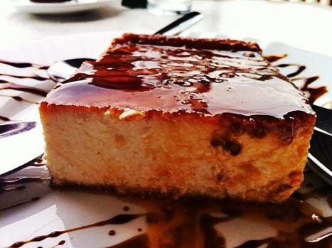 Brutal la tarta de queso de Las Rejas